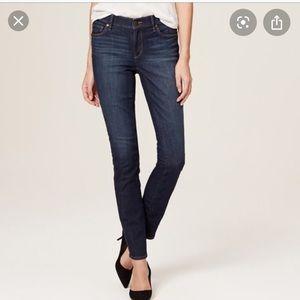 LOFT Modern High Waist Skinny Ankle Jeans Size 29